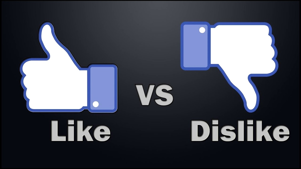 Image result for like vs dislike""