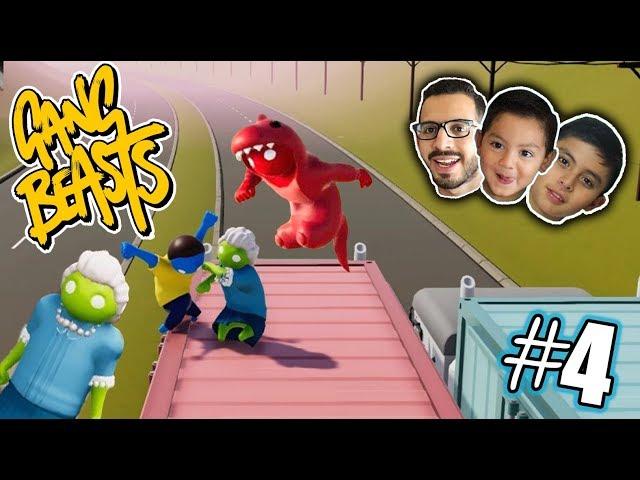 Luchas Locas con Granny | Gang Beasts 4 | Juegos Karim Juega