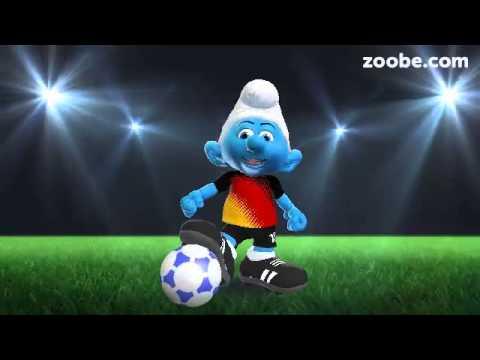 Zoobe Fußballschlumpf Wünscht Alles Gute Zum Geburtstag