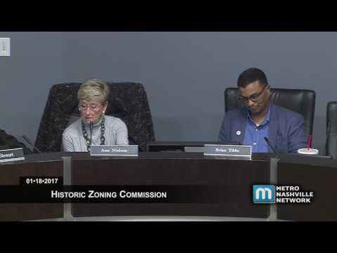 01/18/2017 Historic Zoning Commission