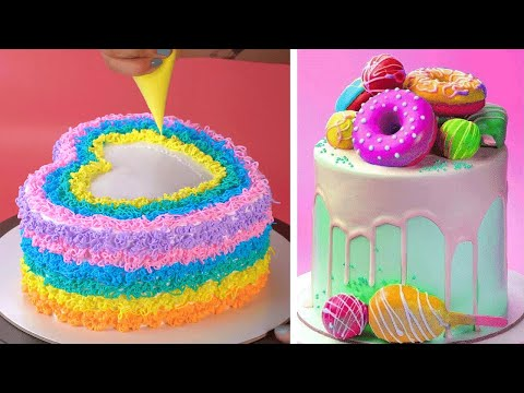 so-yummy-colorful-cake-decorating-recipes-|-awesome-chocolate-cake-decorating-ideas-|-how-to-cake