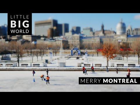 Merry Montreal (Time lapse - Tilt Shift - 4k)