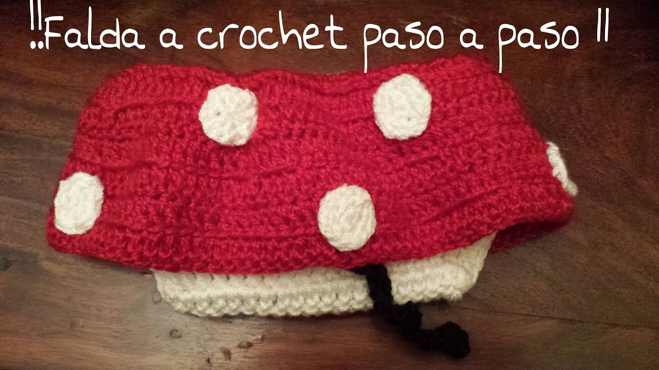Falda de la Minnie Mouse a crochet !!! Parte 1º ¡¡¡ - YouTube