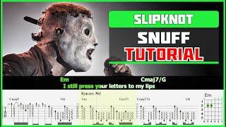 Slipknot - Snuff   Guitar tutorial   Acoustic cover видео
