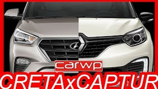COMPARATIVO R$ 86.740 #Hyundai #Creta Pulse 1.6 AT6 vs R$ 84.900 #Renault #Captur Zen 1.6 CVT