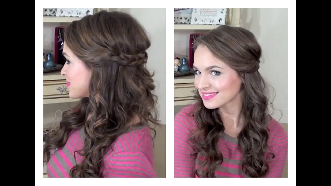 simple half up hairstyle - my bridesmaids hairstyles - youtube