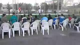 الحضور الجماهيري لمبارايات المعلمين في دوري أمل سورية  Maçlar öğretmenler için seyirci