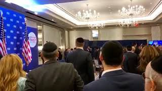 Beri Weber Sings the national anthem at orthodox  Jews fundraiser for TRUMP campaign