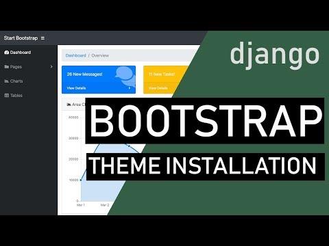 Django Bootstrap Theme Installation
