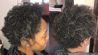 THIN WISPY HAIR TRANSFORMATION !!!! (TRANSITIONING)