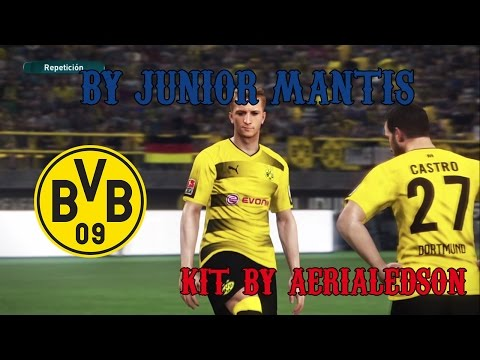 Kit Home Borussia Dortmund Temp. 2017-18 || PES 2017 PS4 || Kit By AerialEdson