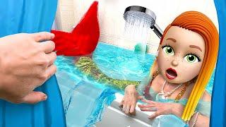 My friend is a MERMAID - Funny Mermaid Situations by La La Life Emoji