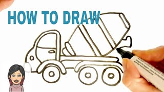 How to Draw a Tanker Truck - Cisterna * Drawing for Boys