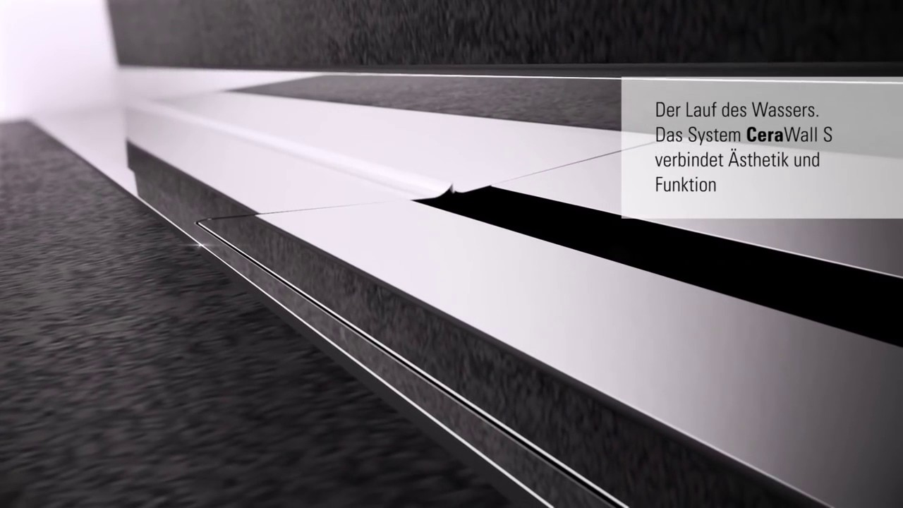 Duschrinne Dallmer Cerawall Select Dallmer Cerawall Das Innovative Ablaufsystem