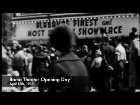 Opening of Bama theatre, April, 1938 Tuscaloosa, Alabama