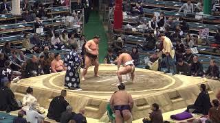 翔猿(7勝7敗)-天空海(3勝3敗)/2018.3.25/tobizaru-akua/day15 #sumo