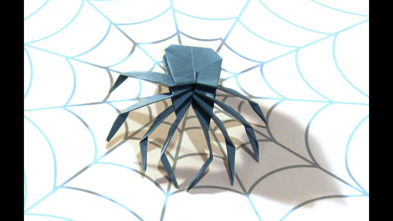 halloween origami spider tutorial how to make an