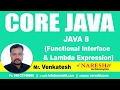 JAVA 8 New Features | Core Java Tutorials Videos | Mr. Venkatesh