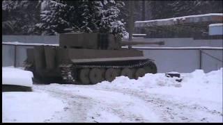 "Реплика(копия) танка ""Тигр I"".The tank ""Tiger I"" a test drive."
