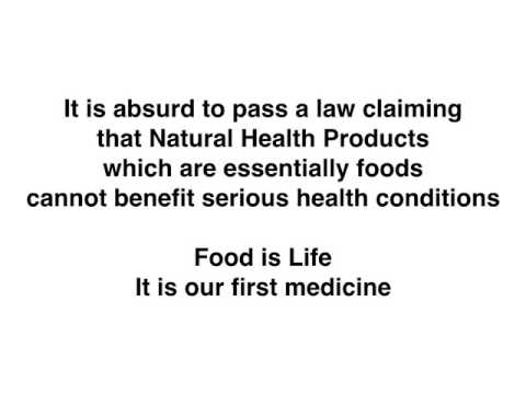 Why Are They Regulating Natural Health Products