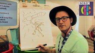 How to draw an action pose | Art Ninja | CBBC Live!