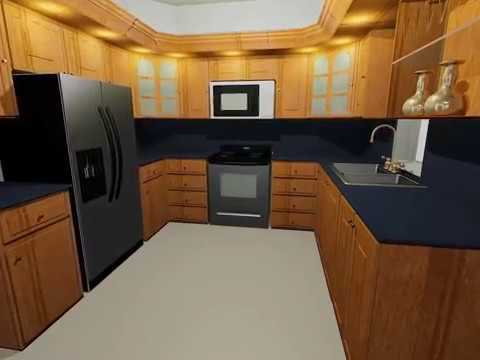 A really nice kitchen in autocad youtube for Nice kitchen designs photo