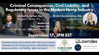 Criminal Consequences & Civil Liability in Hemp