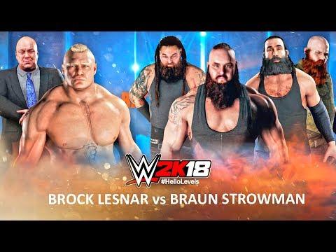 WWE 2K18 Brock Lesnar vs Braun Strowman feat. Paul Heyman and The Wyatt Family Members