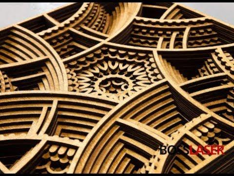 Laser Cutter - Wood - 3D Multi Layered Art Piece / Wall Art Piece - Download