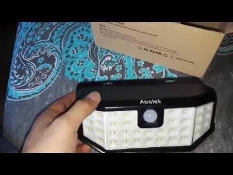 Aootek Solar LED Light Sensor Review - Amazon Purchase