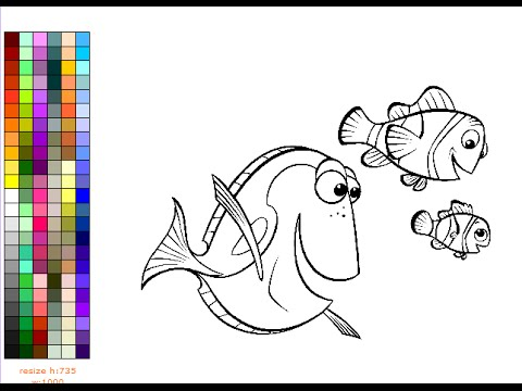 Finding nemo coloring pages for kids finding nemo coloring pages games youtube