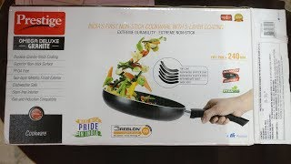 Prestige Omega Deluxe Granite Fry Pan with Lid Unboxing