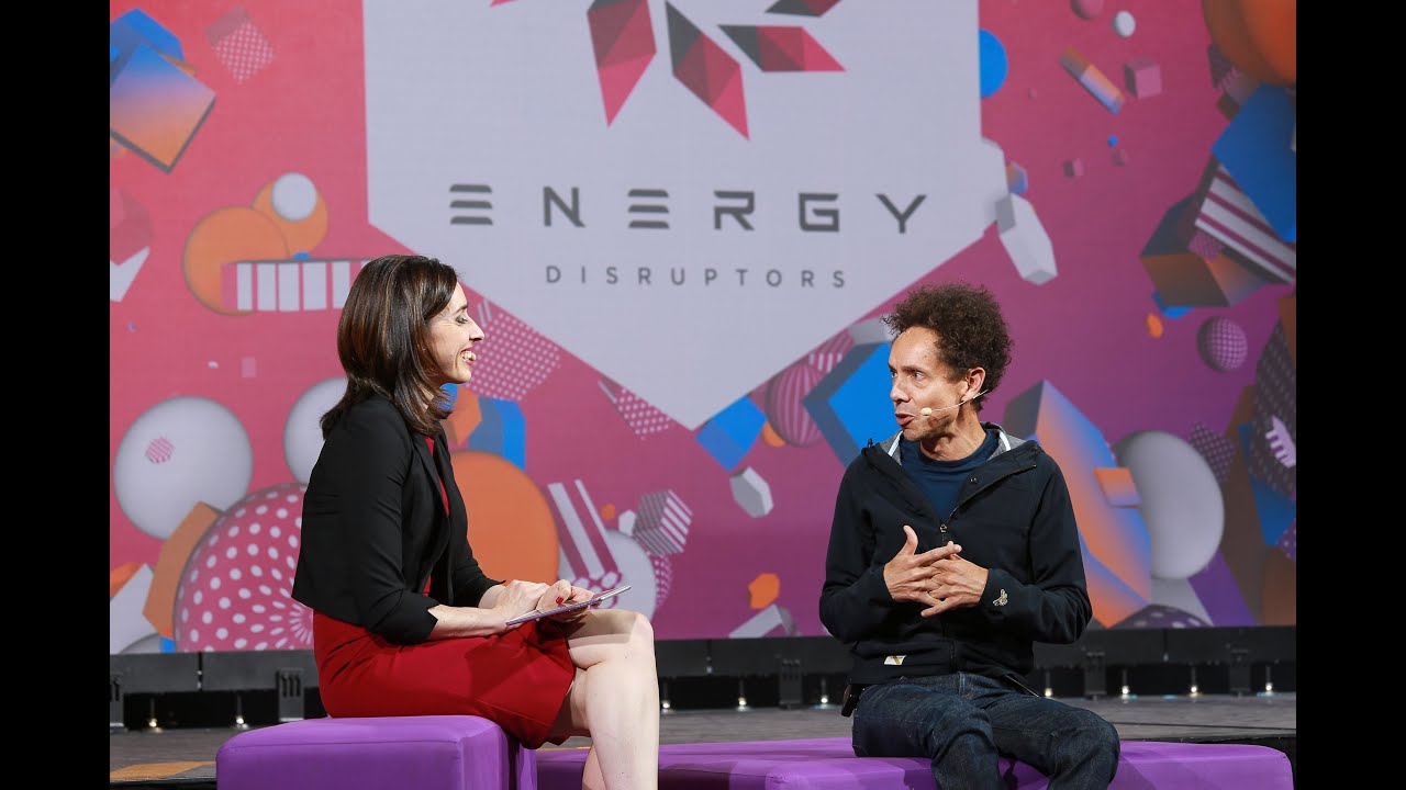 Malcolm Gladwell discusses energy disruption with Holly Ransom   Energy Disruptors UNITE 2019