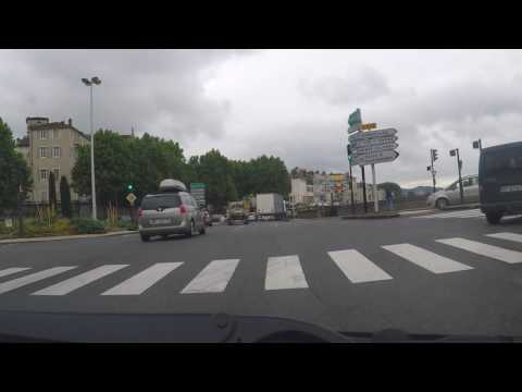 France by Autoroute - Vienne - N7 south by the Rhone