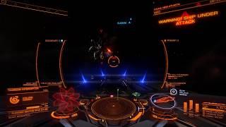 Elite Dangerous solo Corvette vs Thargoid