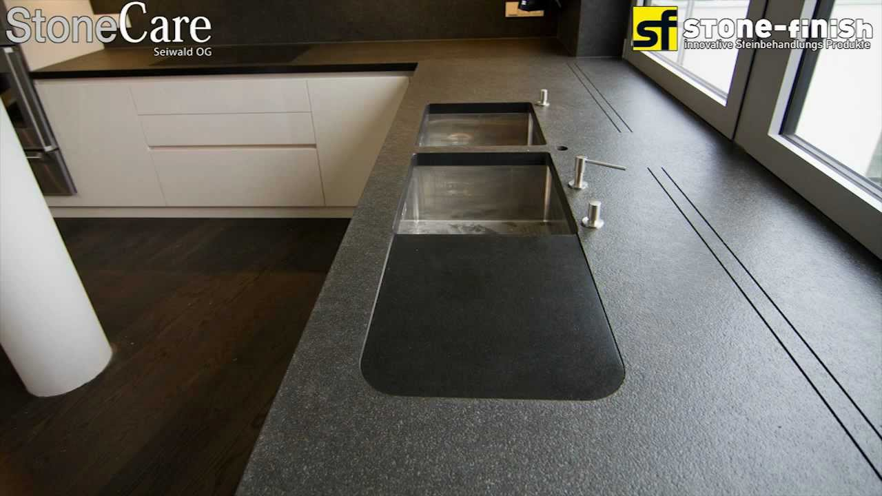 Extrem Steinreinigung/Imprägnierung von Küchenarbeitsplatten - YouTube LN03