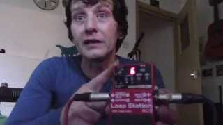 Boss RC-3 and RC-2   Loop Pedals-  Using it ,.and making Loops