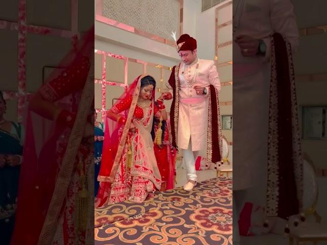 Jaimala Ceremony Bride meets Groom #shorts