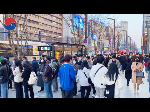 [4K] Seoul Gangnam Walk – Walking in the Evening After Work in Gangnam, store, cafe, Seoul Korea