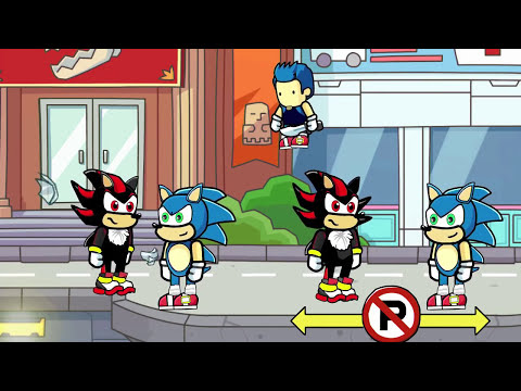 Scribblenauts Unlimited 184 Sonic & Shadow Remakes in Object Editor