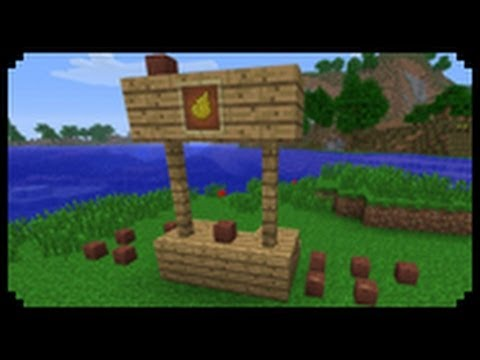 Minecraft How To Make A Lemonade Stand Youtube