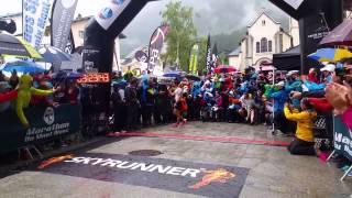 Marathon du Mont Blanc 2014 - Arrivée de Kilian Jornet