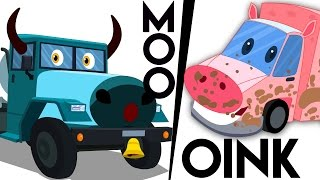 Animals Song | Learn Animals Sound | Kids Car Rhymes and Songs