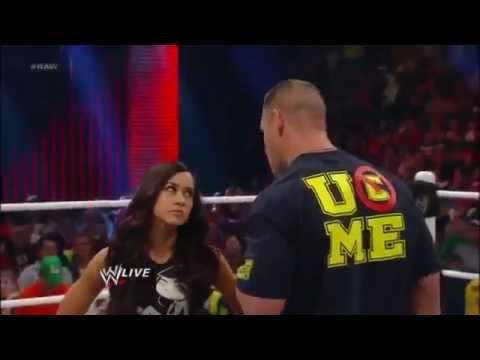Wwe Kaitlyn And John Cena Kiss John Cena and AJ LEE K...