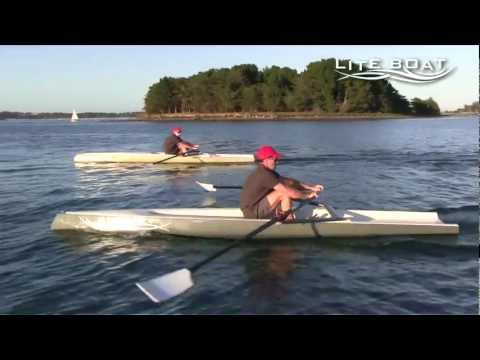 Liteboat - a new concept of rowing boat - YouTube