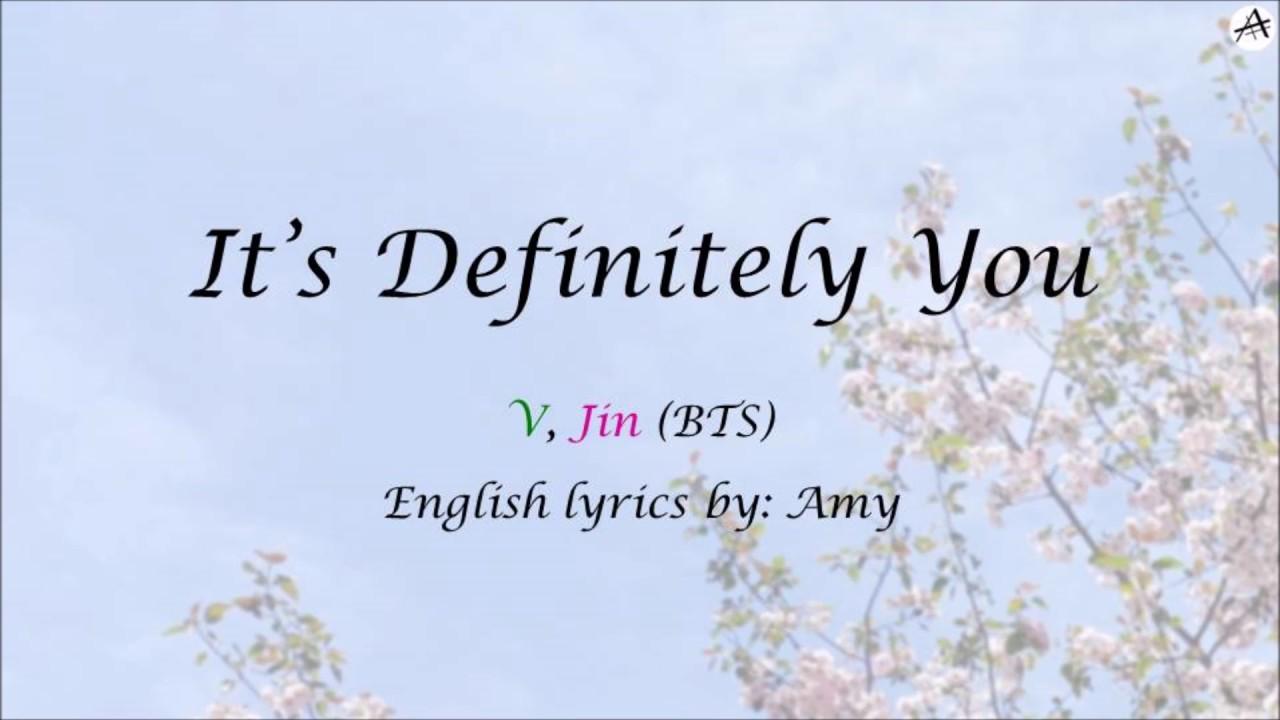It S Definitely You English Karaoke Duet V Jin Chords Chordify