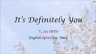 It's Definitely You (Even If I Die, It's You- 죽어도 너야) - English KARAOKE Duet - V, Jin (Hwarang OST)