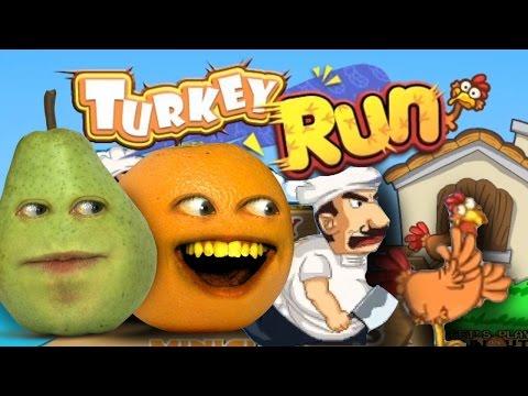 Get Annoying Orange Plays THANKSGAMING TURKEY RUN w/ Pear Pictures