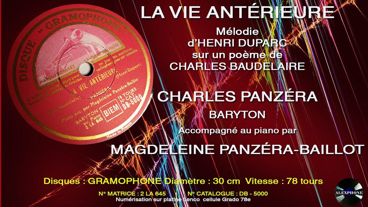 l invitation au voyage duparc baudelaire charles panzera