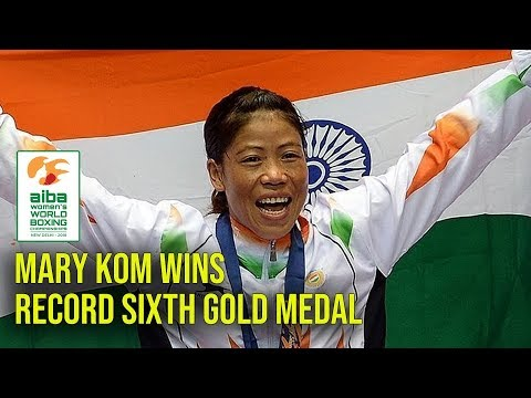 Mary Kom wins record sixth gold Medal in women's World Boxin